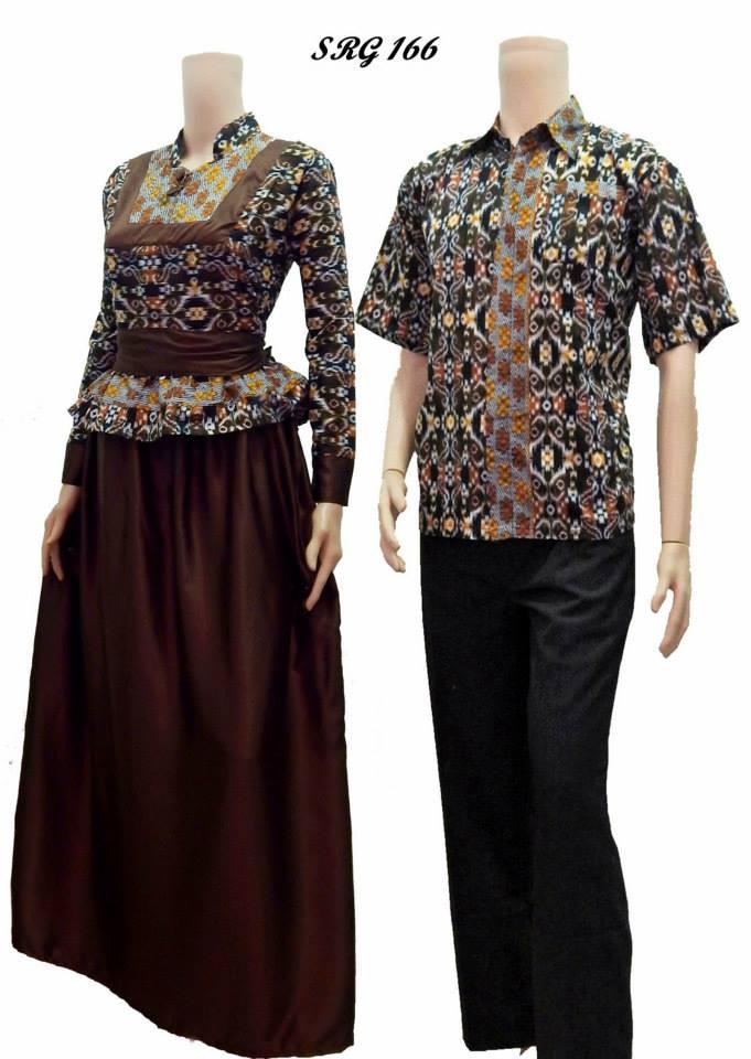 Jual beli baju batik couple sarimbit gamis model saphira Jual baju gamis couple 2015