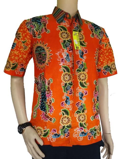 ... Kemeja Batik Naga Warna Orange Murah di Kab. Gresik | Pricepedia.org