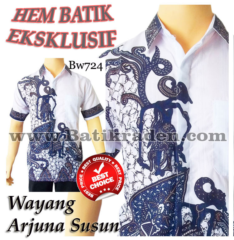 Jual Batik Raden Modern Wayang Arjuna Bw724 Batik Nusantara