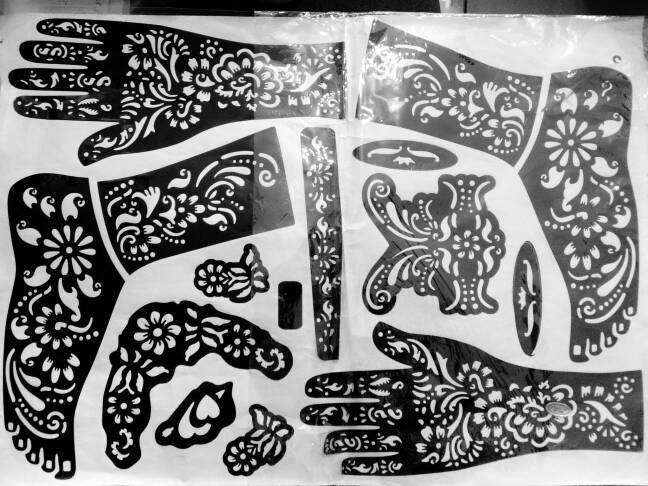 Jual Cetakan Henna Tangan Kaki Al Zakiyaa Tokopedia