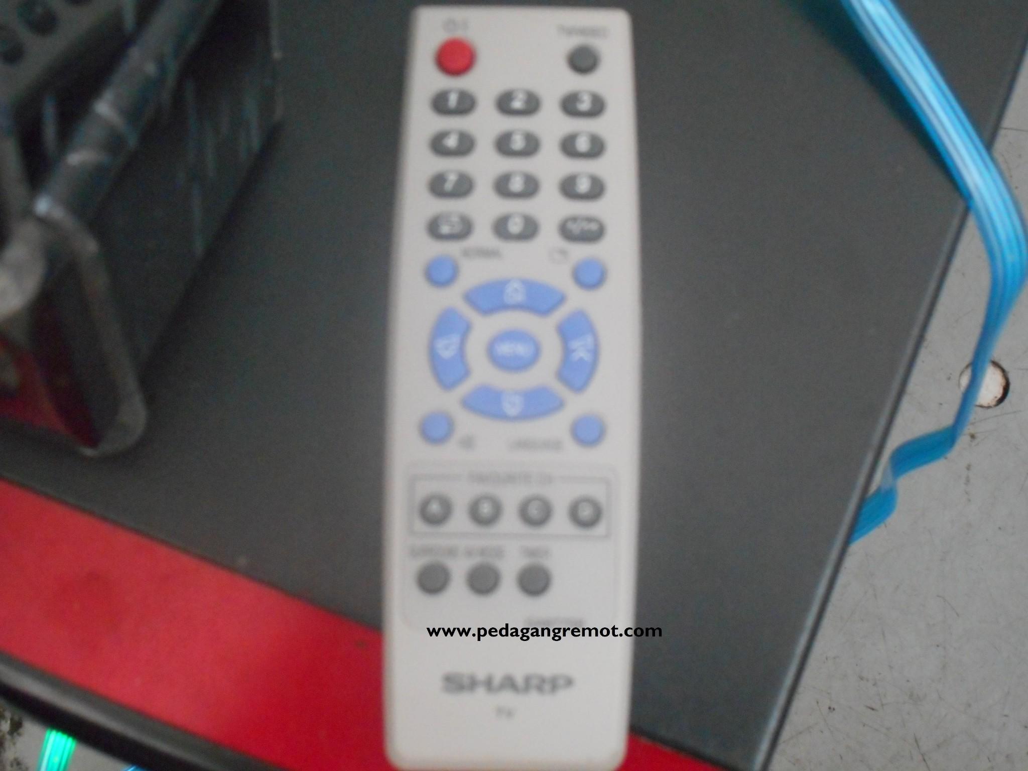 Jual Remot Remote TV SHARP Tabung CRT Original GA877SB Pedagang Remot