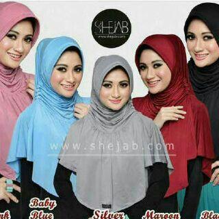 grosir Hijab Bergo Rumana Rempel Polos