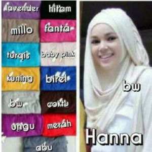 Grosir Hijab Instant Hanna CHSI bhn Rayon super