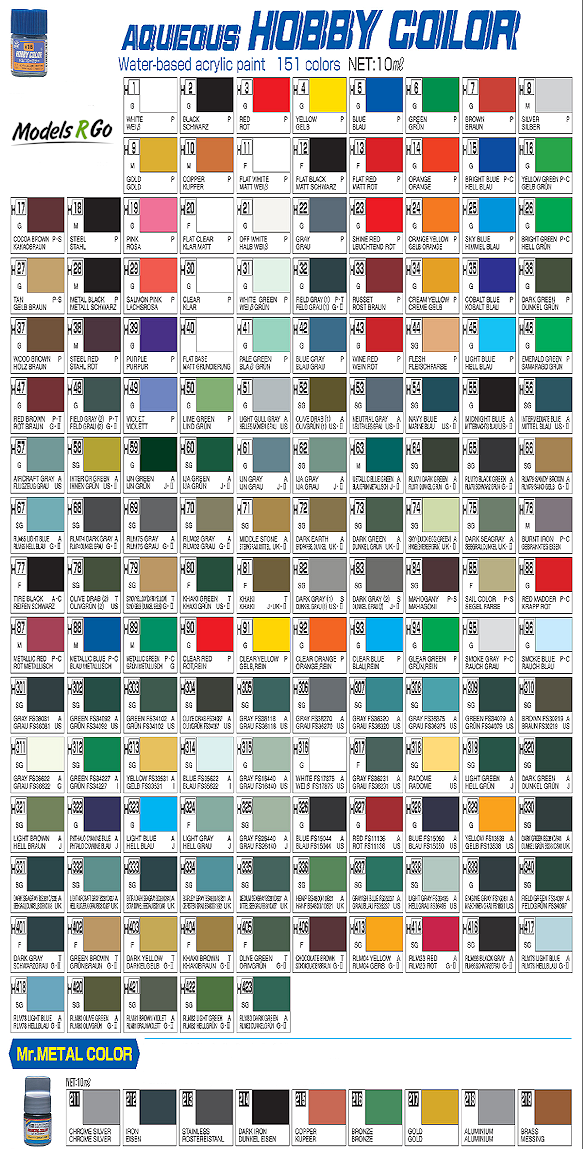 Gunze Color Chart Gallery Chart Design For Project