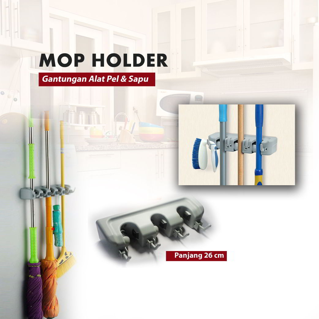 Magic Mop Holder Gantungan Sapu Alat Pel Dengan Hook 3 Slot Daftar Source · Jual gantungan sapu