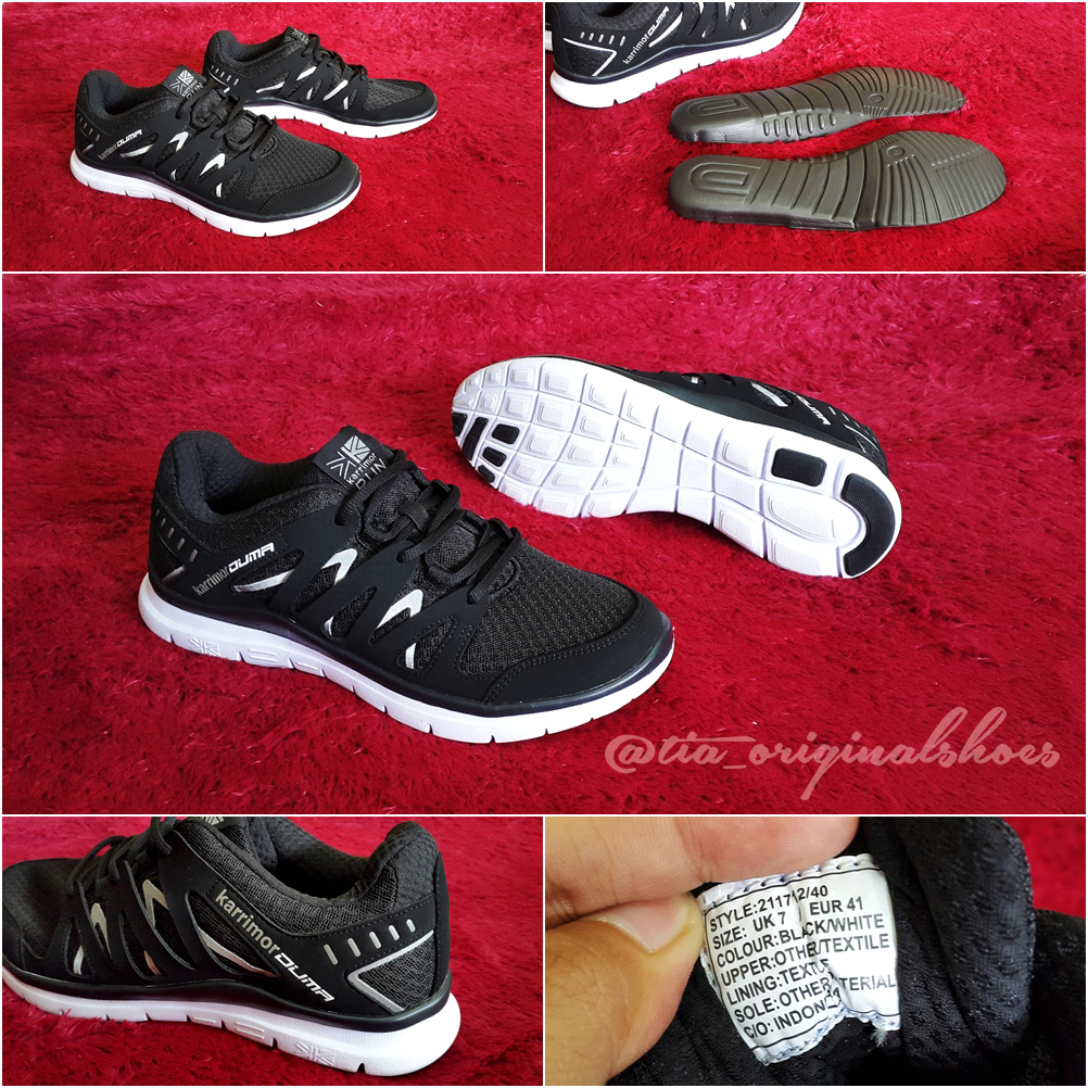 Jual Sepatu Karrimor Running Original Duma Black Tia139 Tokopedia