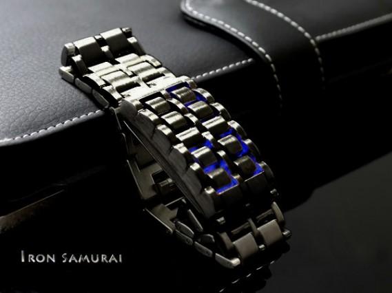 Jam Tangan Tokyo Flash Samurai Iron Black Blue / Hitam Biru