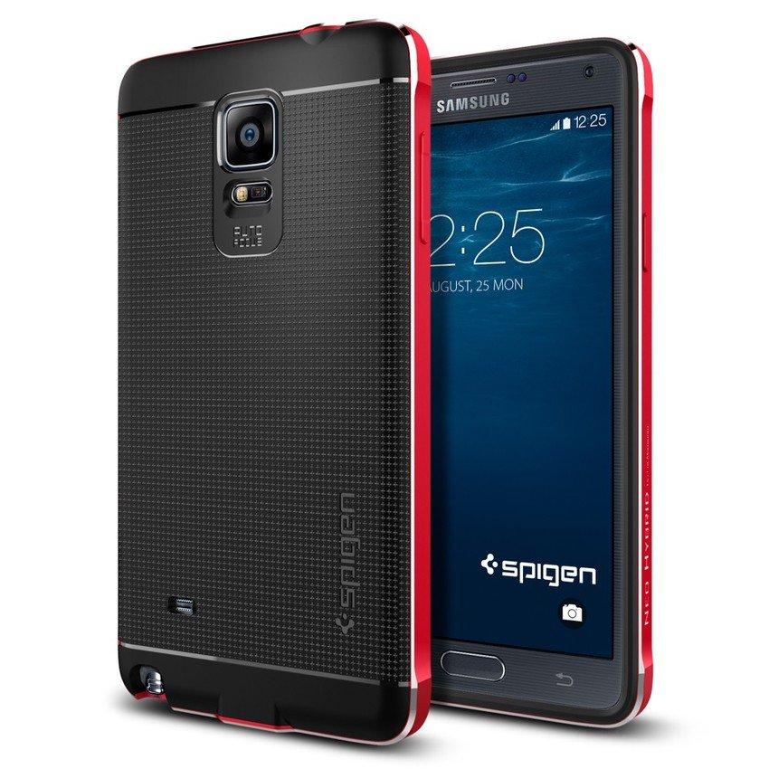 Spigen Galaxy Note 4 Case Neo Hybrid Metal Series Metal Red SGP11180