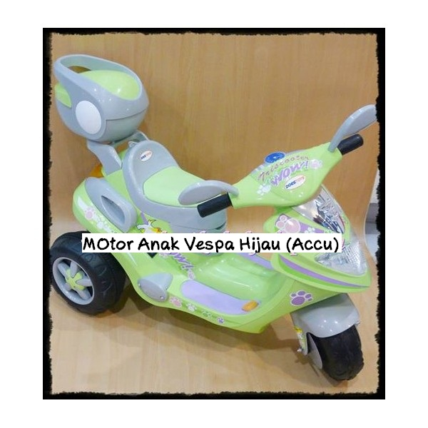Mainan Anak / Motor Anak Vespa Accu / Motor Aki