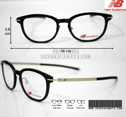 Jual Frame Kacamata Original Nb 09004 Black Premium Quality Zona 3c0c883d2f