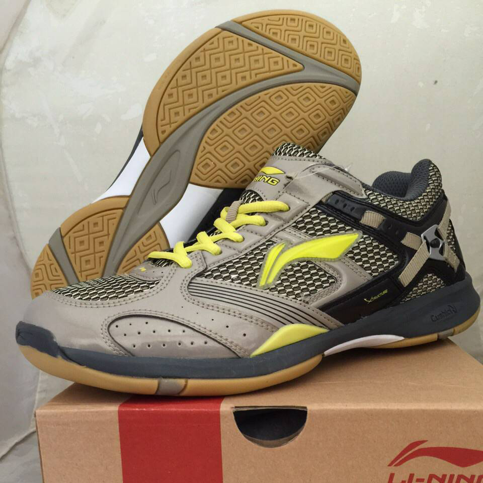 7 Li Ning Badminton Shoes Super Star Ii Hijau Metalik