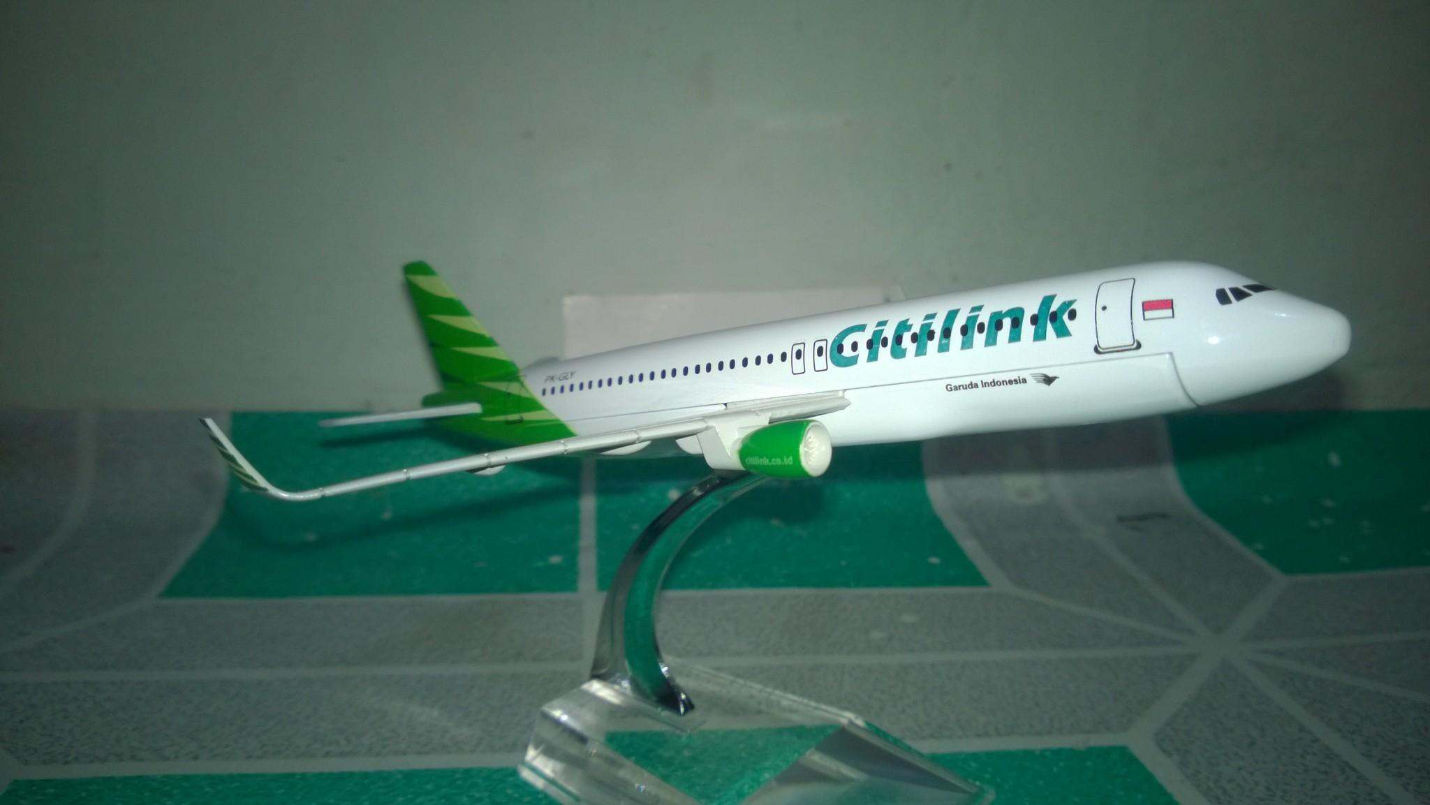 Jual Miniatur Pesawat Citlink Airbus 320 Ardian Toys Tokopedia Diecast Citilink