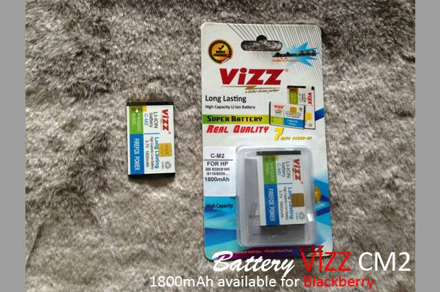 Battery Blackberry CM 2 merk VIZZ 1800MaH