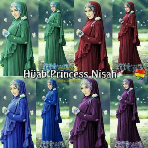 Hijab Syari Nisah (Maxy+Brukat+Bross)
