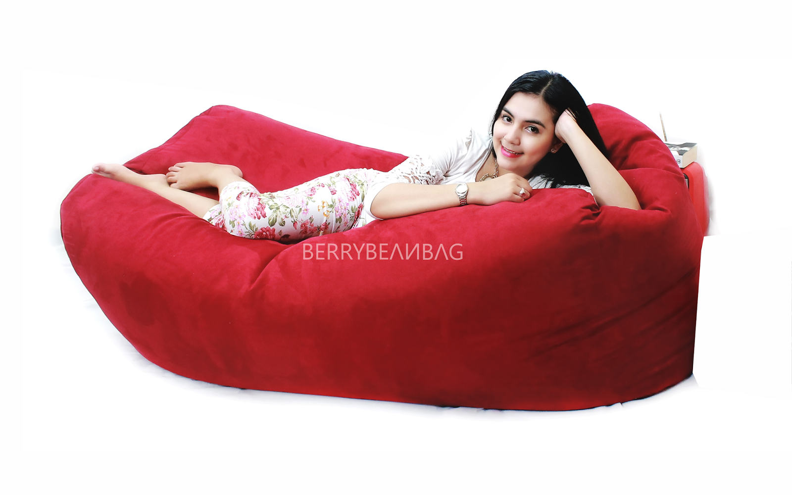 Jual Beanbag Suede Material Cover Only Berrybeanbag