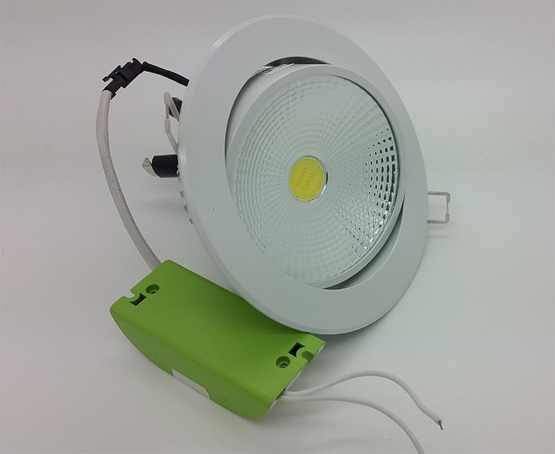 Jual Lampu Ceiling Downlight LED COB 10 Watt Adjustable