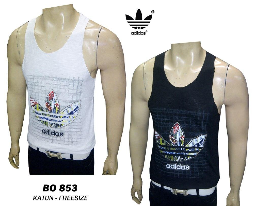 Jual Kaos Singlet Tanktop Pria Bo 853 Putih Adidas Kdk Store Baju Fashion Tokopedia