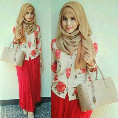 Set hijab siska red gl1304