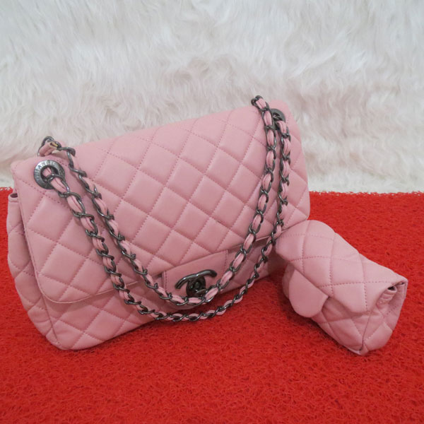 Jual Tas Fashion Wanita   Chanel Twin Black Nikel Baby Pink - B2524   Super  - Raya Collection  96e83f9a0c