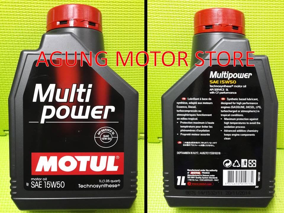 Jual OLI Mesin MOTUL Multipower 15W 50 1L