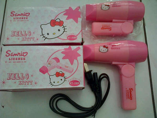 Jual Hair Dryer Hello Kitty Mini Pengering Rambut