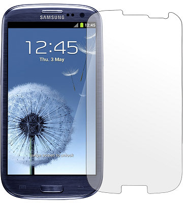 Screen Protector SuperGuard Clear Samsung S3 Anti Gores Great Quality
