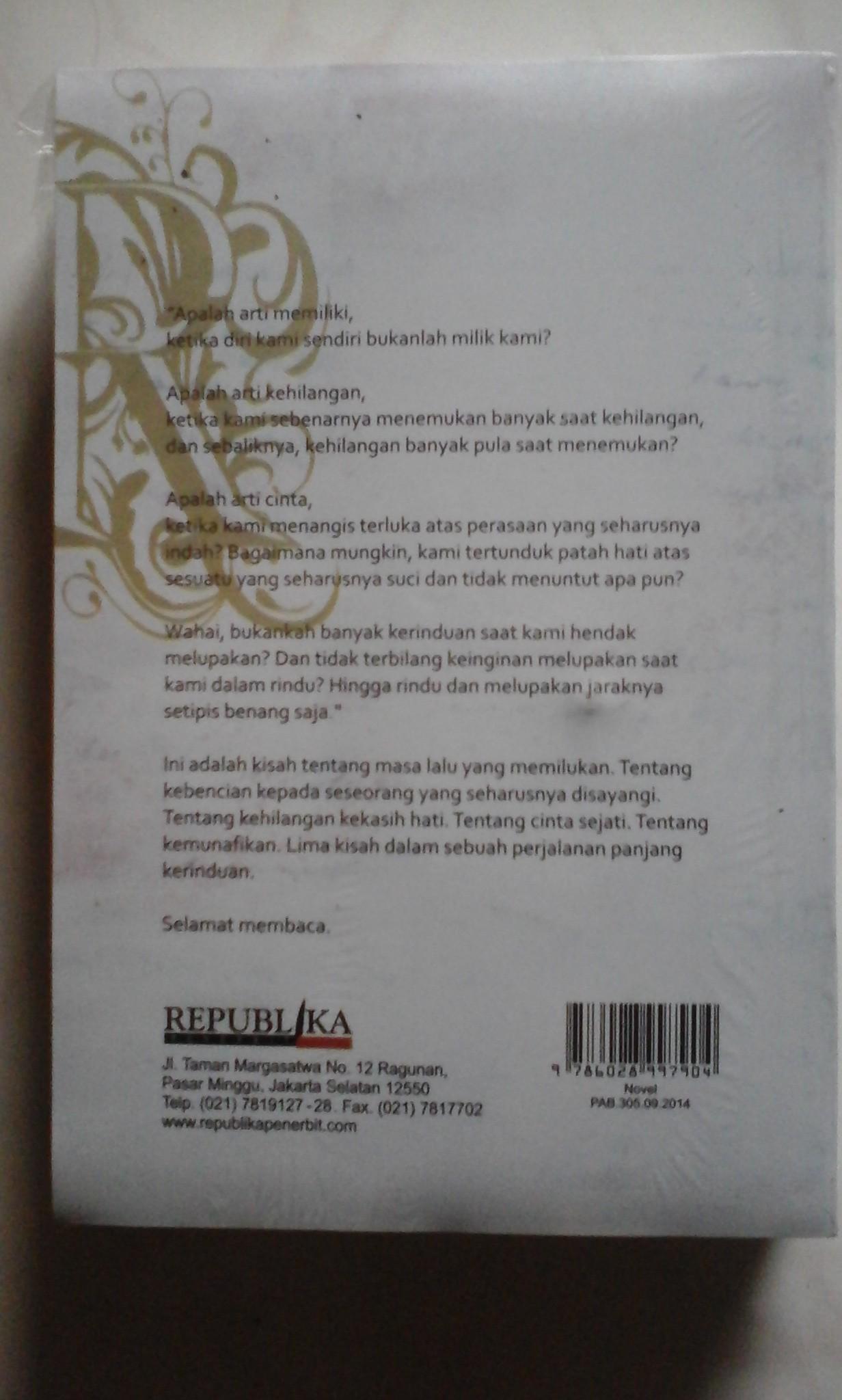 Buku Novel Rindu By Tere Liye by Jual Novel Quot Rindu Quot Penulis .