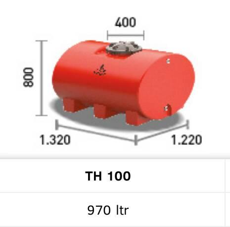Tangki air / toren Horizontal Penguin TH 100 ( 970 liter )