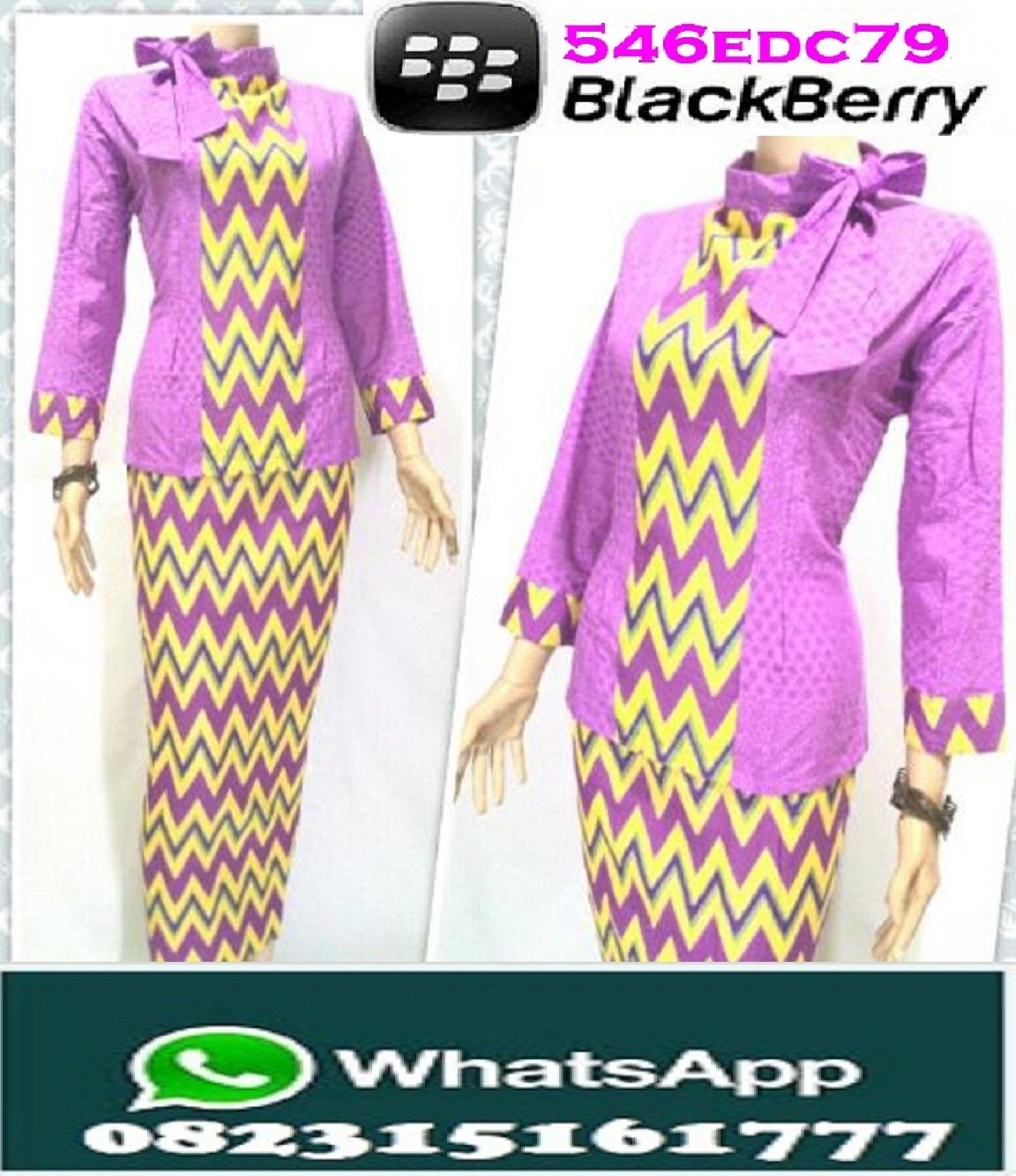Rok N Blouse Batik V Neck Blouses