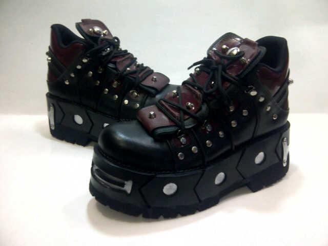 harga Sepatu Mr.Beam / Rocker Rock Boot Metalic Kulit Pria Casual Kerja Tokopedia.com