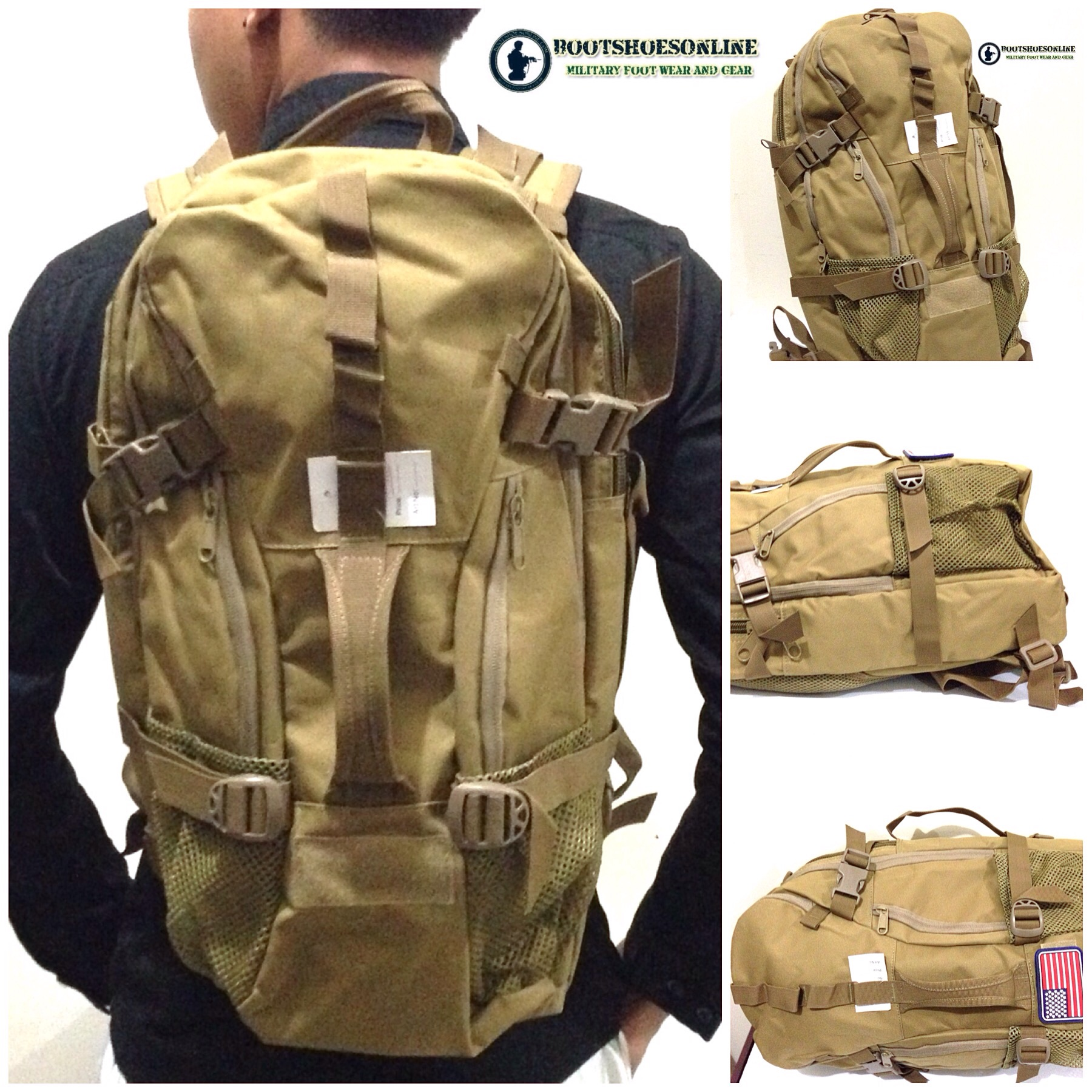 Jual Tas ransel tactical backpack outdoor military bag 40L multifungsi bootshoesonline