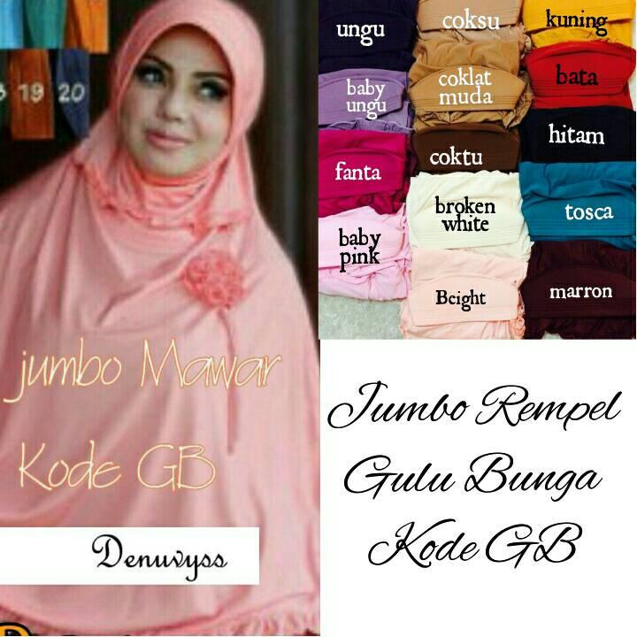 hijab/jilbab instan jumbo kode GB