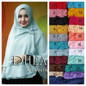 Grosir Hijab / Jilbab Syiria Dhea Pita 3 Layer / Khimar Dea / Dhea