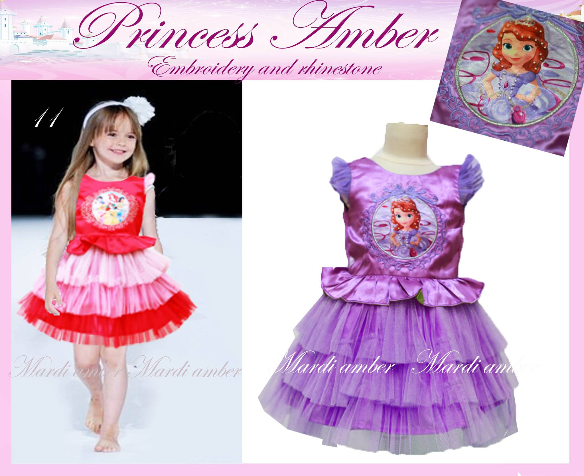 Jual Baju Anak Branded Import Tbs0a282 Princess Amber Sofia Purpel