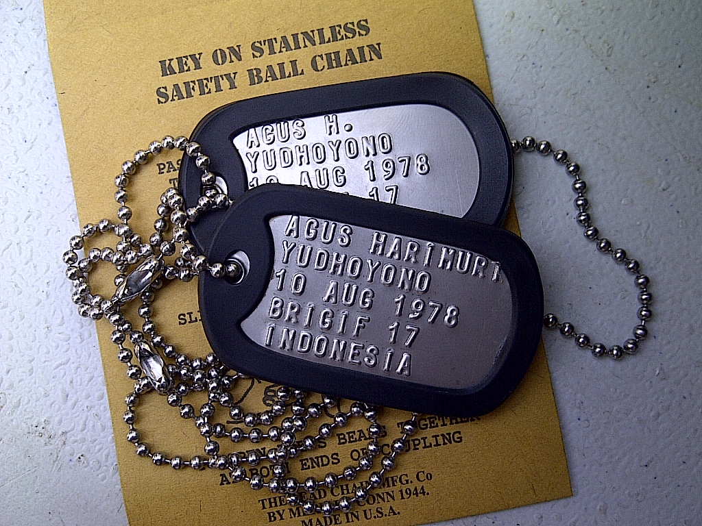 Jual Current Issue Tag Replica Indotag Tokopedia Kalung Dog Original Us Military Spec Id