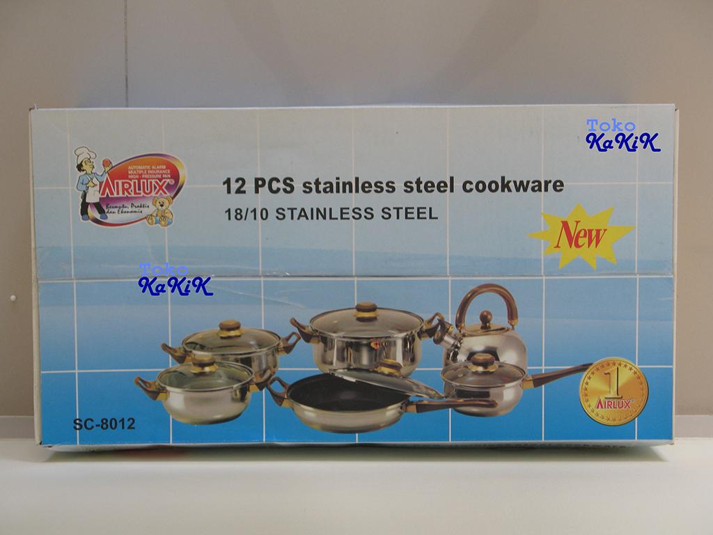 Airlux Cookware Set 12 Pc Sc 8012 Update Daftar Harga Terbaru Carbon Steel Bc 8105 Hijau Jual Panci