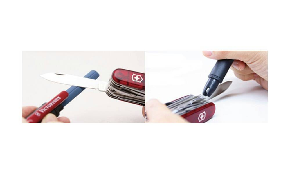 how to use victorinox knife sharpener
