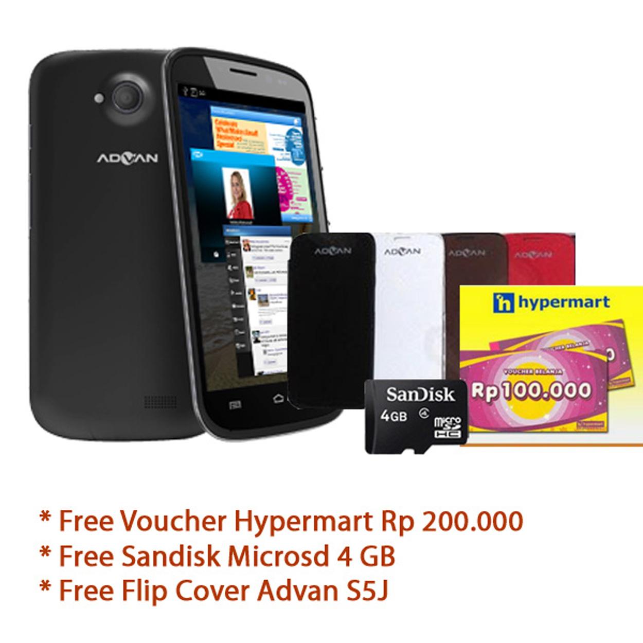 Jual Advan Vandroid S5j Black Free Voucher Rp 200rb Microsd 4gb Flip Smartphone Quadcore Cover Paziashop Tokopedia