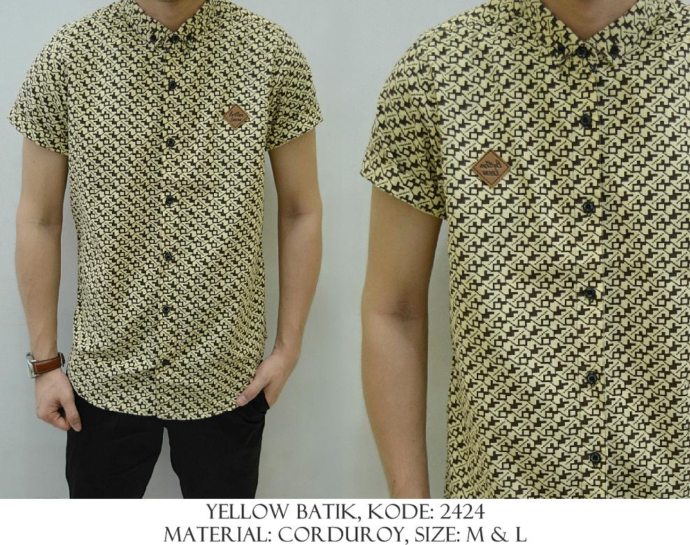 Baju Distro & Baju Kemeja Yellow Batik