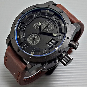 Jam Tangan Gc Tali Kulit ( Model Expedition 6381 )