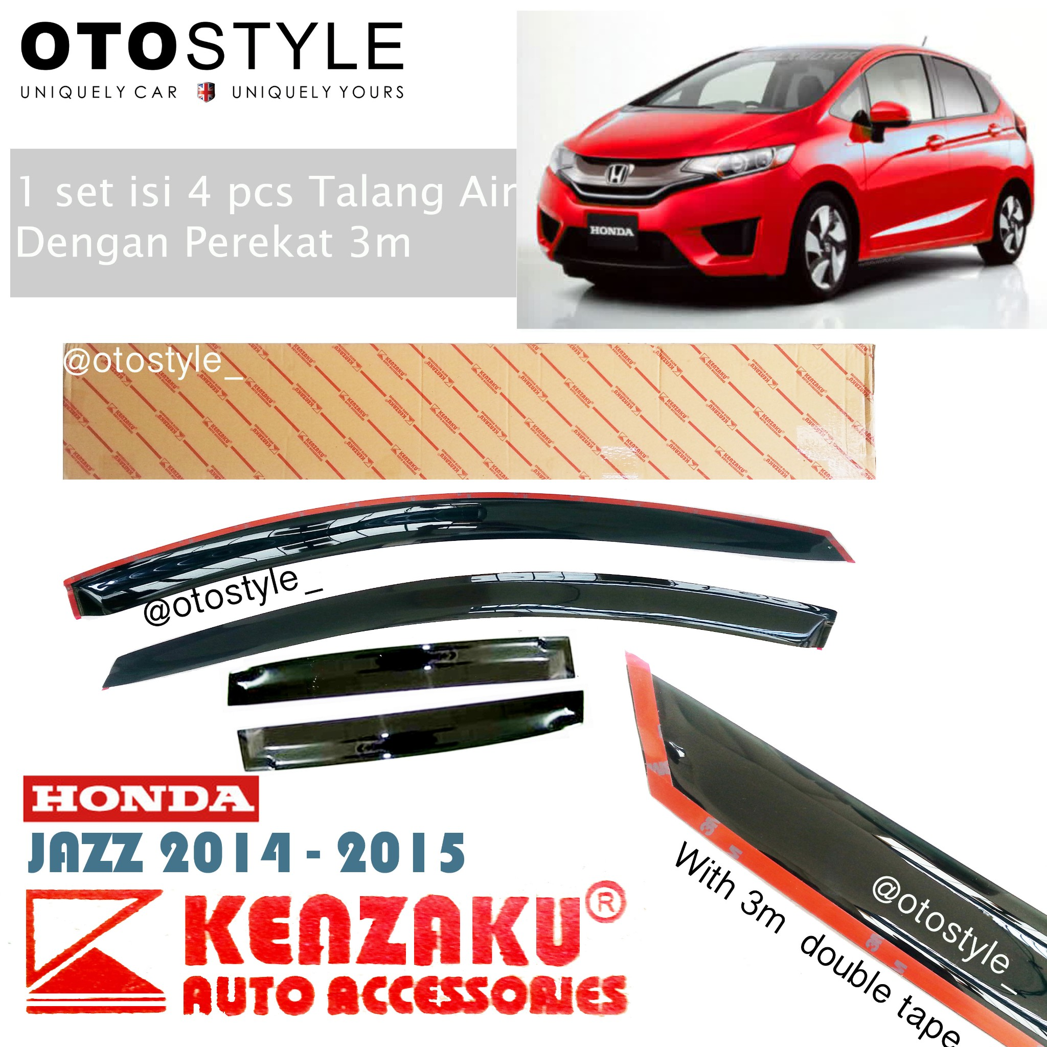 Talang Air HONDA all new JAZZ 2014-2015 premium kenzaku