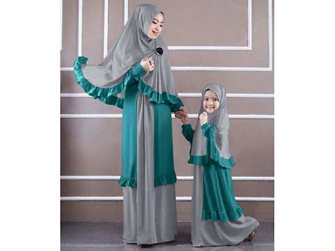 Jual Gamis Busana Muslim Couple Ibu Dan Anak Jj2678