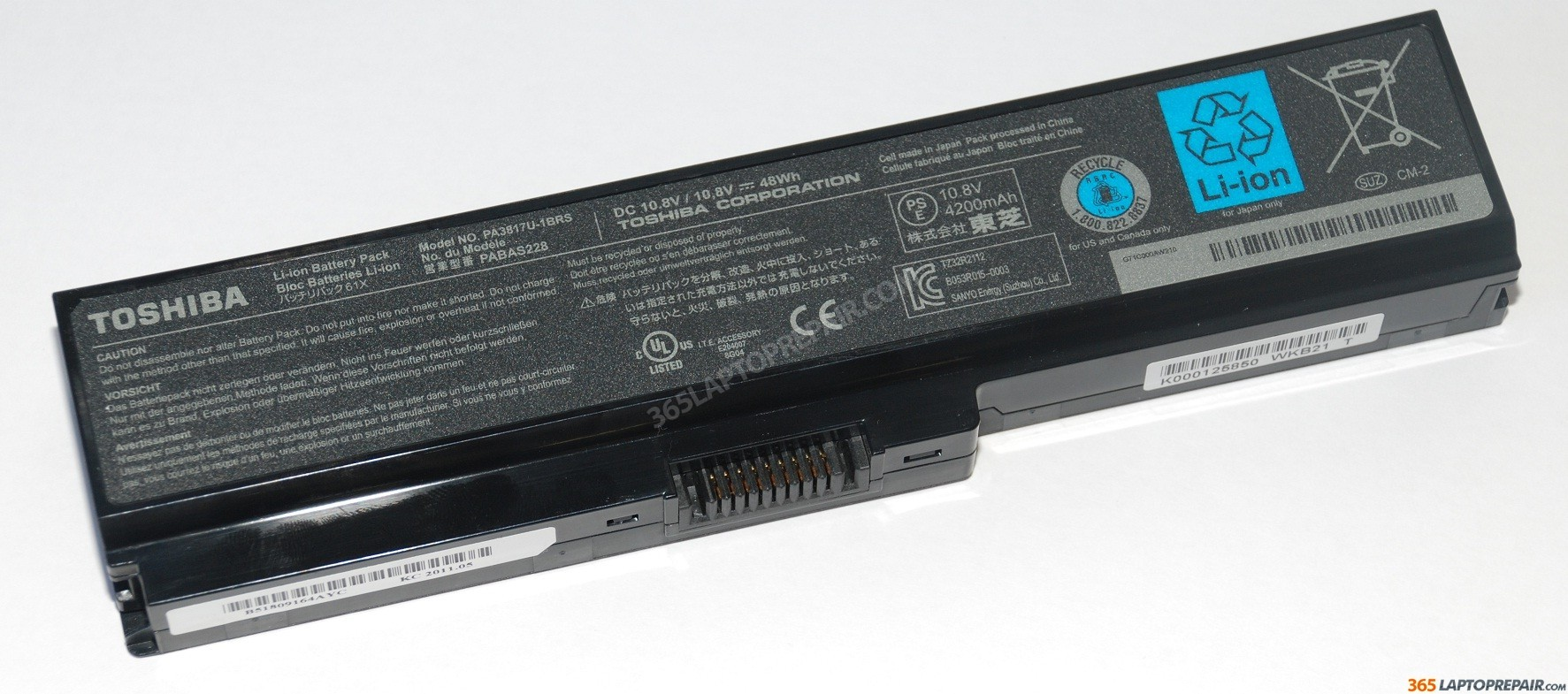 Jual Original Battery TOSHIBA PA3817U 1BRS Satellite