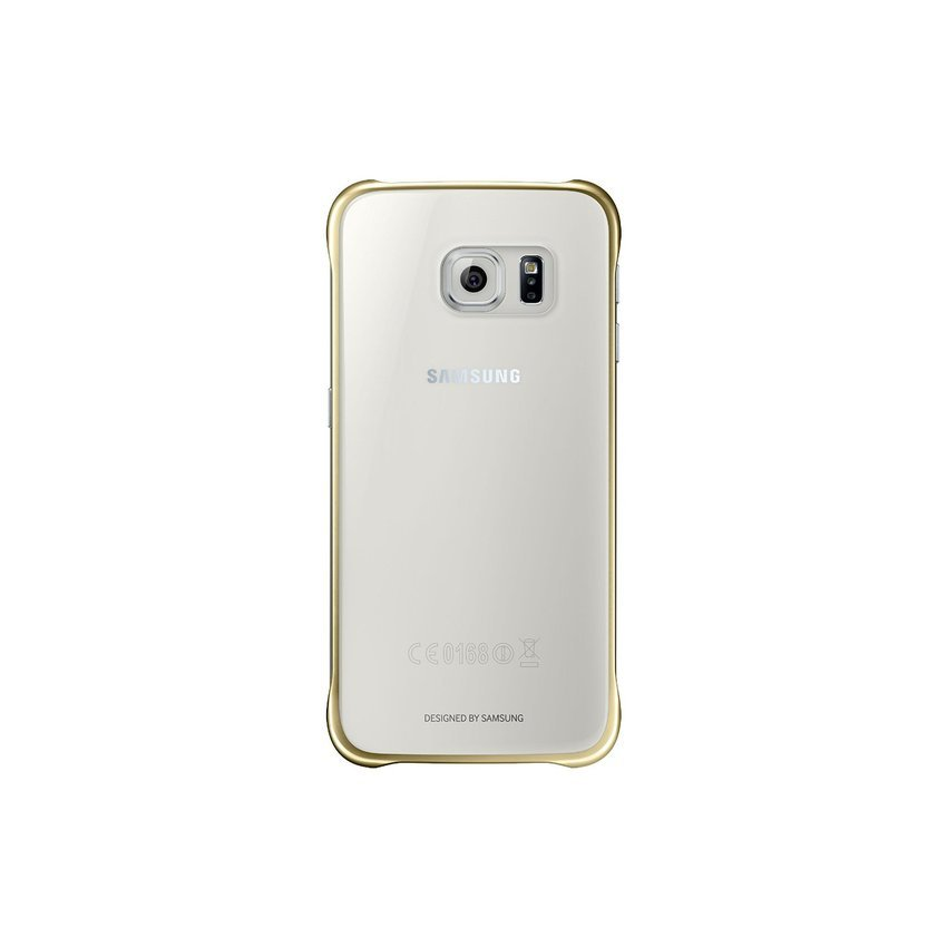 SAMSUNG CLEAR CASE FOR GALAXY S6 EDGE - GOLD