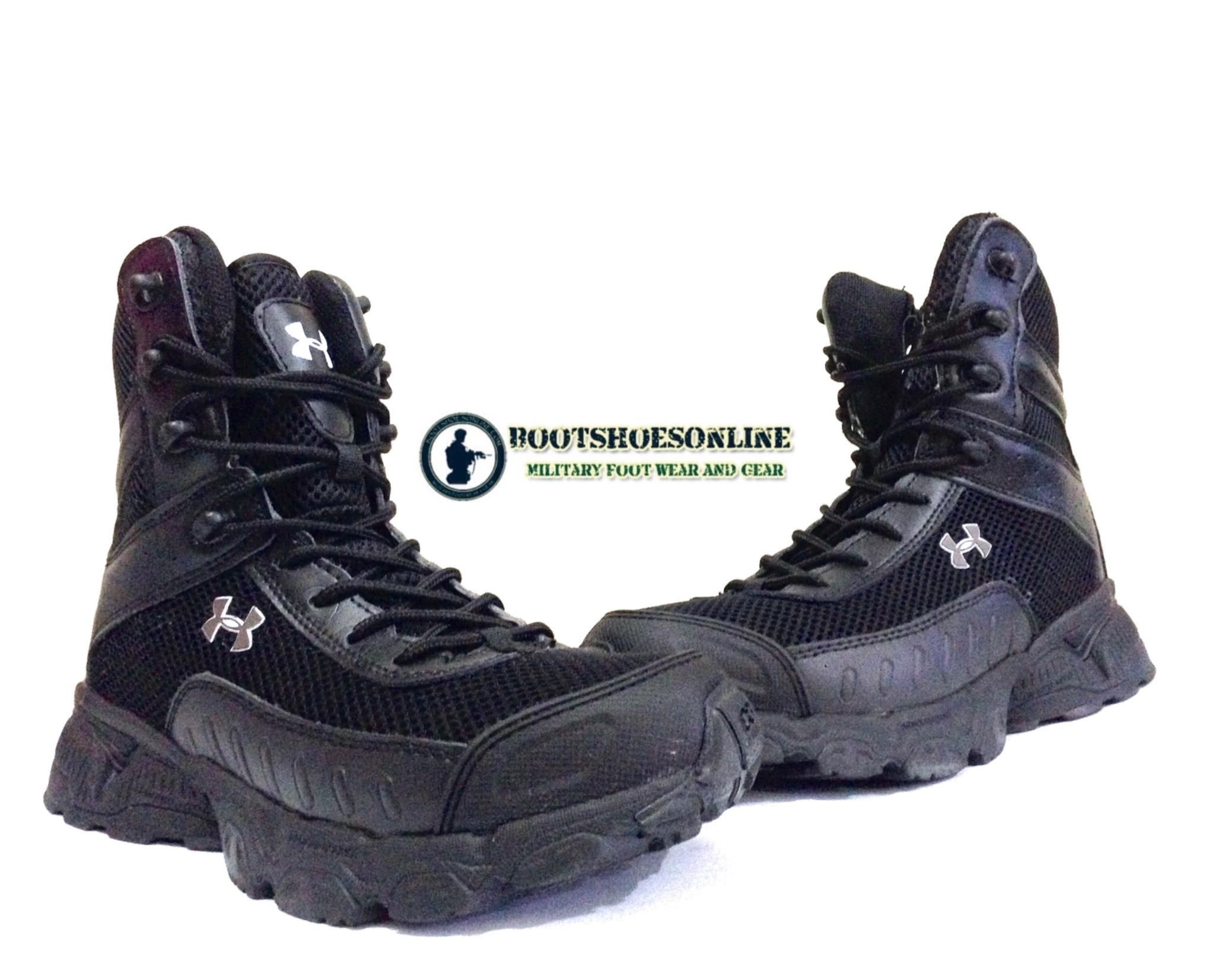 """Jual Sepatu Underarmour Valsetz 7"""" Black USA bootshoesonline"""