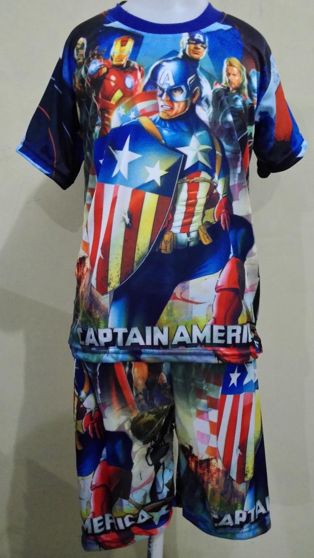STKDL114 - Setelan Anak Laki Captain America Murah