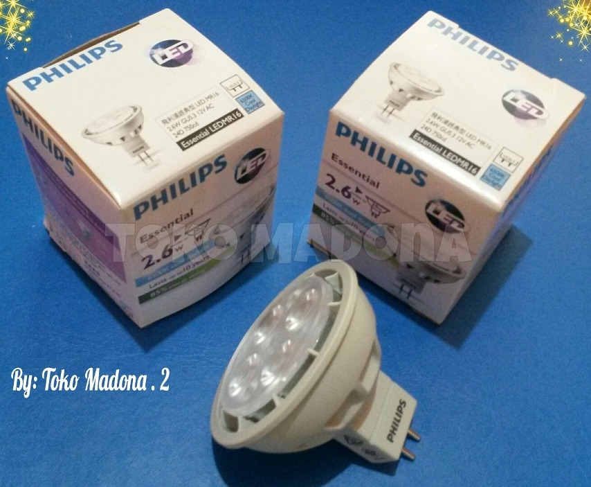 Jual Lampu Philips Essential LED HALOGEN 26 20W MR16