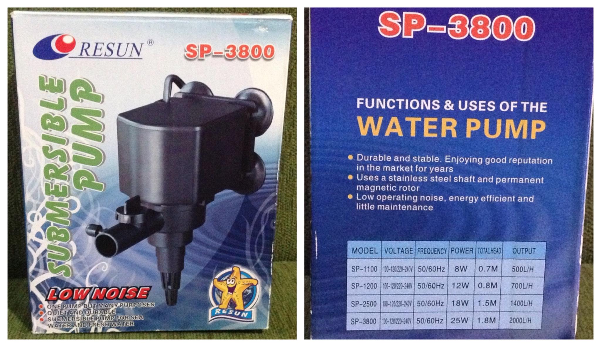 Jual Pompa Air Aquarium RESUN SP 3800, cocok untuk ...