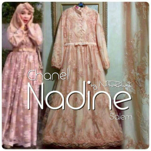 Jual Made By Order Gamis Nadine Dress Baju Brokat Untuk