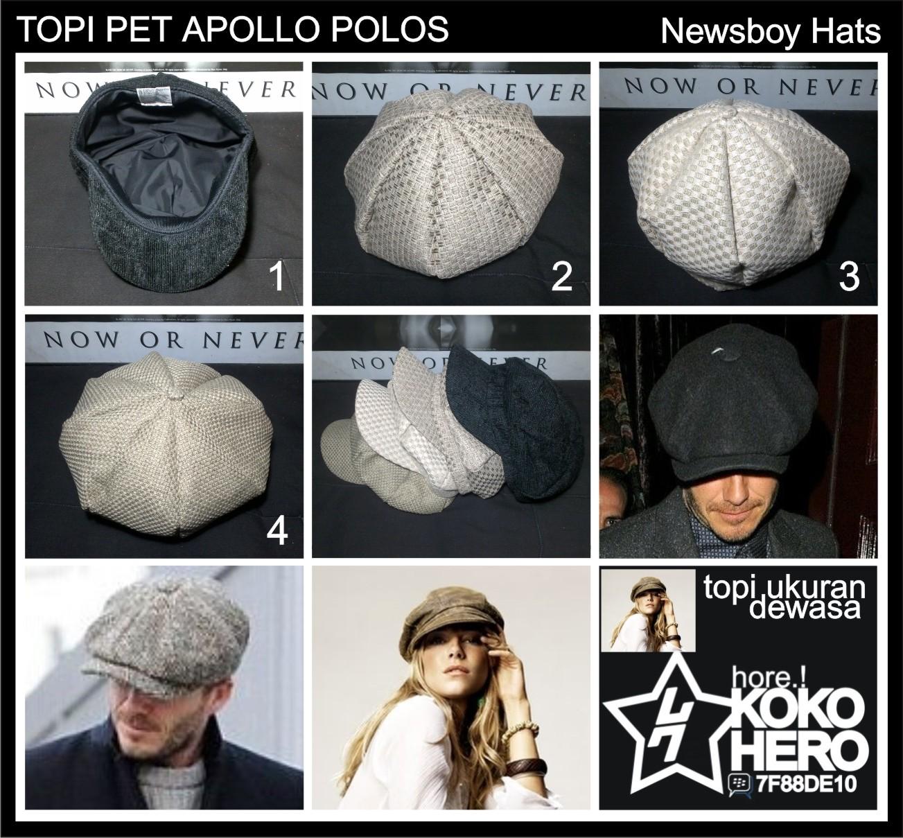 Topi Flat Cap Pet Newsboy Hat Abu Tua Daftar Harga Terlengkap Kalibre Biru Navy 991186 999 Suplayer Paper Boy Topipet Apolo Mario Bros